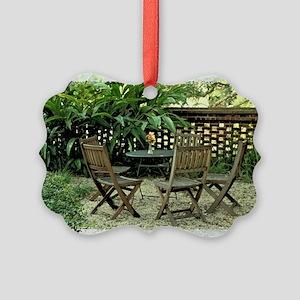 In the garden Picture Ornament