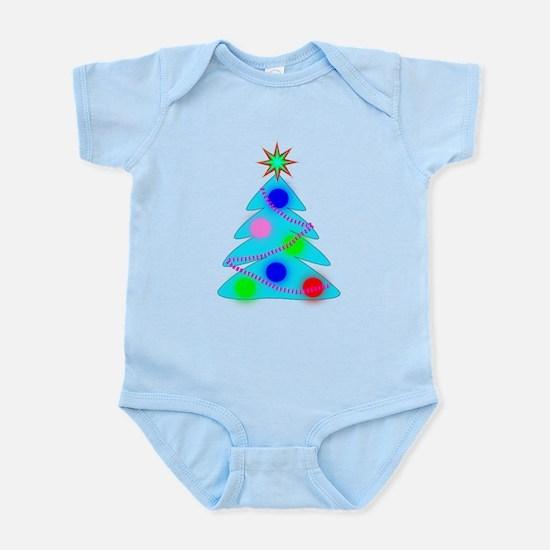 Blue Christmas Tree Body Suit