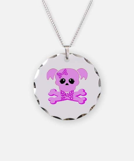Pink Goth Girl Necklace