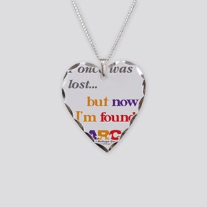 2-I once was lost Necklace Heart Charm