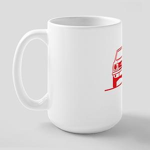 65 Mustang_Fr_red Large Mug