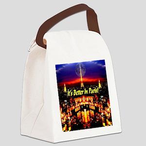 Paris_Moon_its_better_in_paris Canvas Lunch Bag