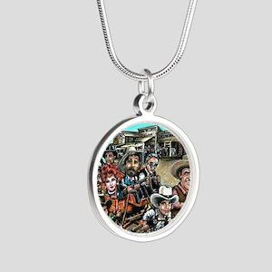 bruton1 Silver Round Necklace