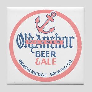 oldanchorbeerdark Tile Coaster