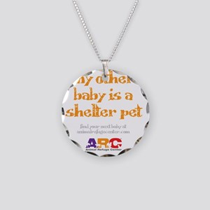 my_other_baby_is_maternity_s Necklace Circle Charm