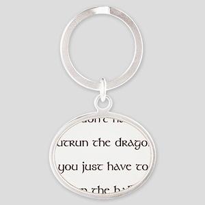 OutrunDragon Oval Keychain