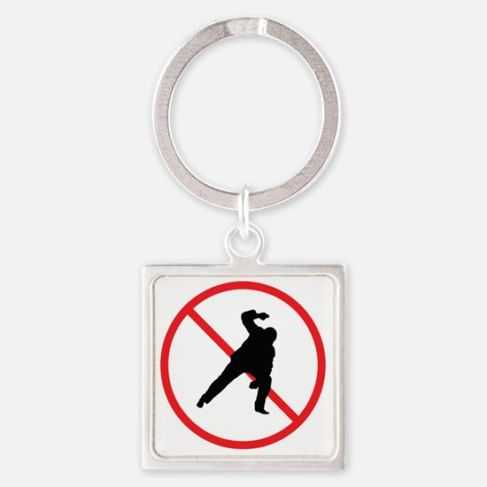 no fundy Square Keychain