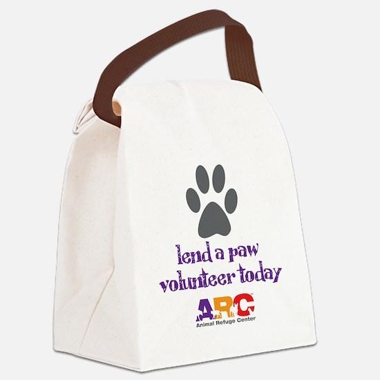 lend a paw Canvas Lunch Bag