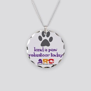 lend a paw Necklace Circle Charm