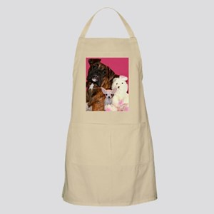 boxer and chihuahua Apron