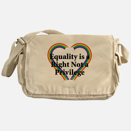 Equality is a Right 3 Messenger Bag