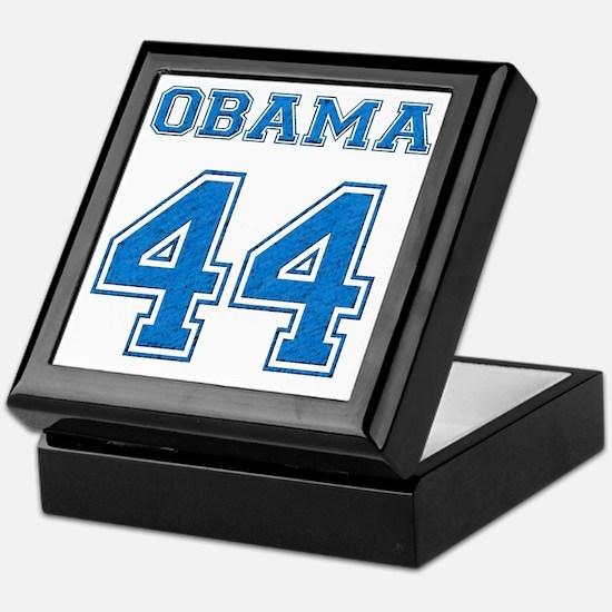 OBAMA 44 blue Keepsake Box