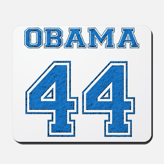 OBAMA 44 blue Mousepad
