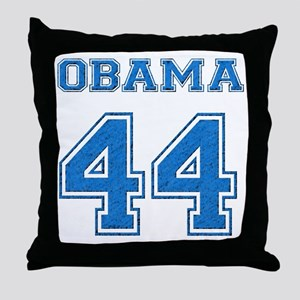 OBAMA 44 blue Throw Pillow