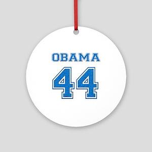 OBAMA 44 blue Round Ornament