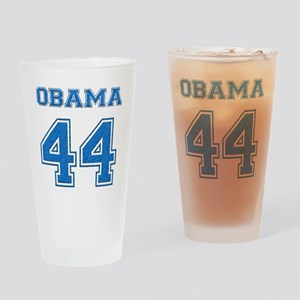 OBAMA 44 blue Drinking Glass
