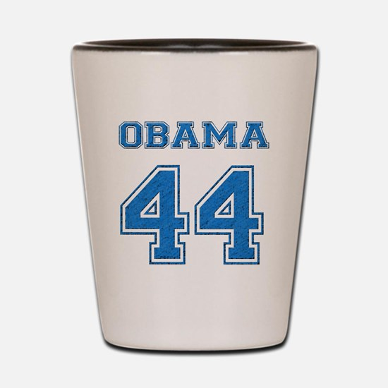 OBAMA 44 blue Shot Glass