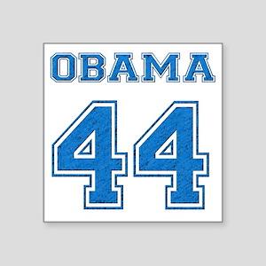 "OBAMA 44 blue Square Sticker 3"" x 3"""