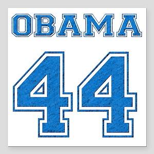"OBAMA 44 blue Square Car Magnet 3"" x 3"""