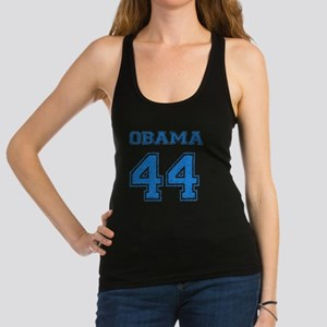 OBAMA 44 blue Racerback Tank Top