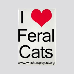 2-heartferalcats Rectangle Magnet