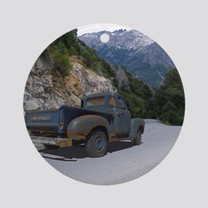 50 Ford Pick up - Mountains - Frame Round Ornament