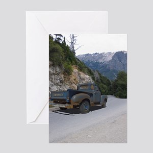 50 Ford Pick up - Mountains - Framed Greeting Card