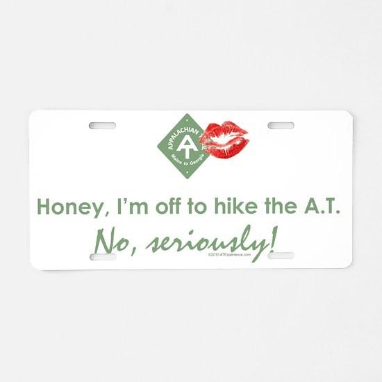Appalachian Trail Cheater Aluminum License Plate