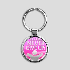 RA Chicks NGU Hot Pink Logo Round Keychain