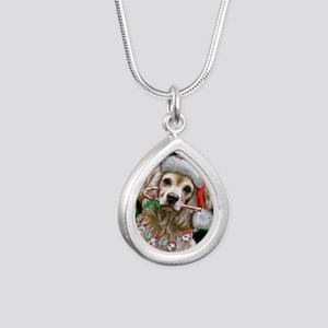 Cocker Spaniel Happy Hol Silver Teardrop Necklace