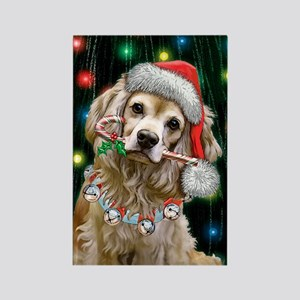 Cocker Spaniel Happy Holidays Rectangle Magnet