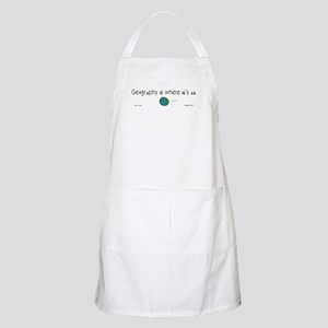 Geography Is Where It's At BBQ Apron