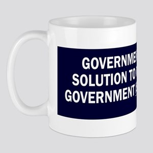 Reagan_govt-not-solution-(blue) Mug