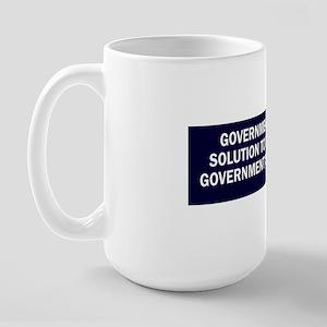 Reagan_govt-not-solution-(blue) Large Mug