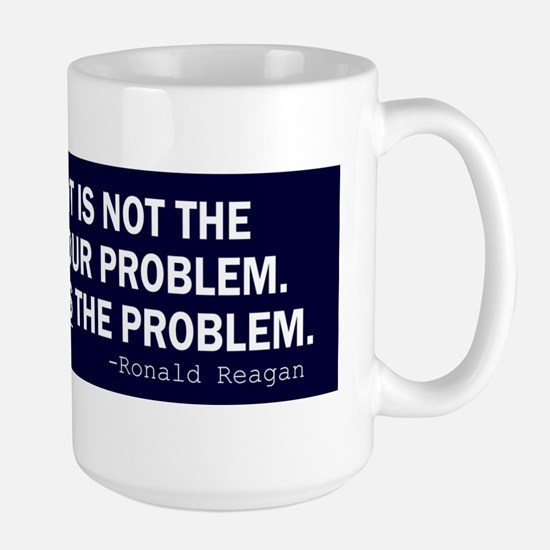Reagan_govt-not-solution-(blue) Large Mug
