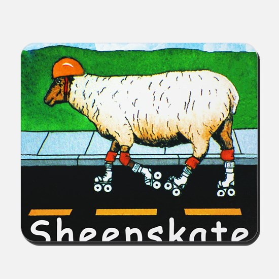 NEW SHEEPSKATE  tile Mousepad