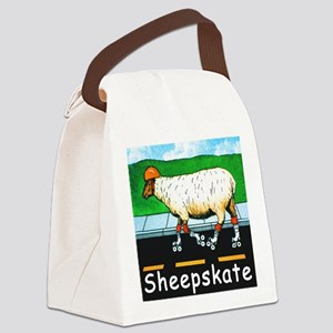 NEW SHEEPSKATE  tile Canvas Lunch Bag