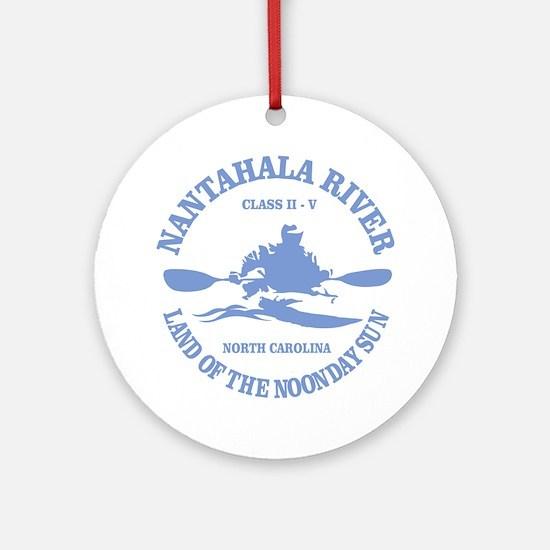 Nantahala River (kayaker) Ornament (Round)