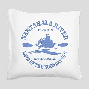 Nantahala River (kayaker) Square Canvas Pillow