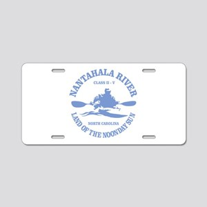 Nantahala River (kayaker) Aluminum License Plate