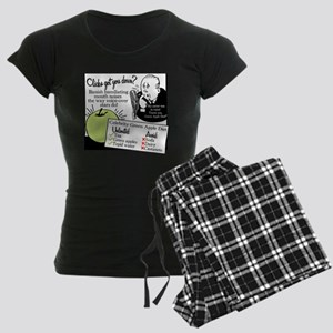 2-GreenAppleDiet Women's Dark Pajamas
