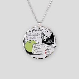 2-GreenAppleDiet Necklace Circle Charm