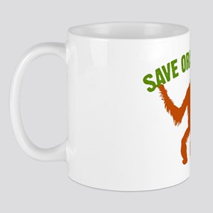 Save Orangutans large rect. Mug