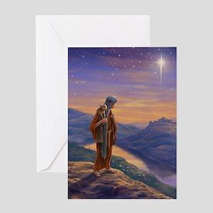 Shepherd Boy with Lamb Greeting Card