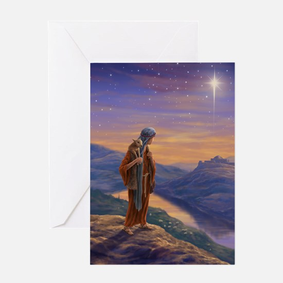 Shepherd Boy with Lamb Greeting Card
