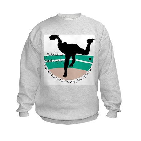Pitching Philosophy Kids Sweatshirt