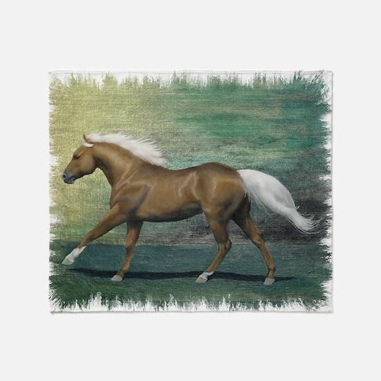 Palomino Stallion Throw Blanket