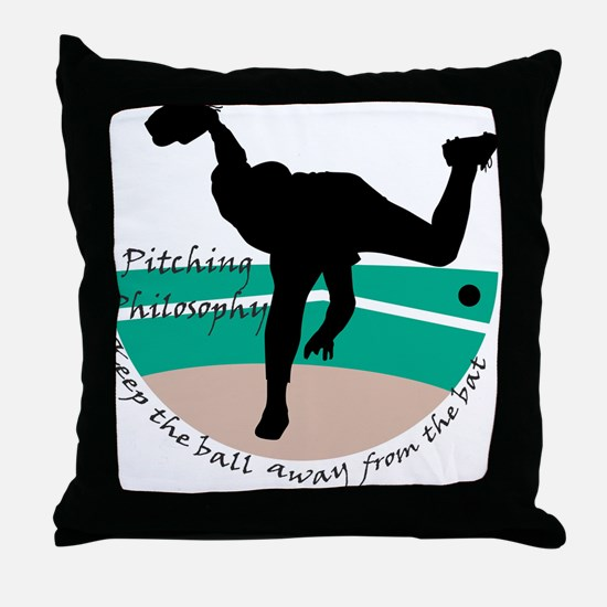 Pitching Philosophy Throw Pillow