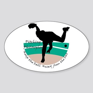 Pitching Philosophy Oval Sticker