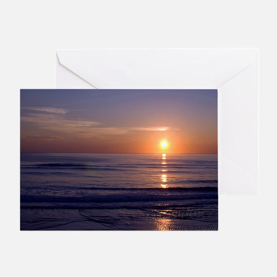 Sunrise Over Atlantic Greeting Card